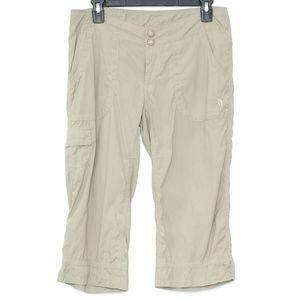 The North Face Tan NYLON Capri Pants Womens 6 A2